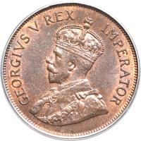 obverse of 1 Piastre - George V (1922 - 1931) coin with KM# 18 from Cyprus.