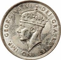 obverse of 18 Piastres - George VI (1938 - 1940) coin with KM# 26 from Cyprus. Inscription: GEORGIVS VI DEI GRA.REX ET IND. IMP. P.M.