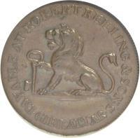 obverse of 1 Quarto - Robert Keeling (1810) coin with KM# Tn3 from Gibraltar. Inscription: PAYABLE AT ROBERT KEELING & SONS GIBRALTAR