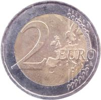 reverse of 2 Euro - French Presidency of the EU (2008) coin with KM# 1459 from France. Inscription: 2 EURO LL