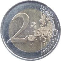 reverse of 2 Euro - Appeal of 18 June (2010) coin with KM# 1676 from France. Inscription: 2 EURO LL