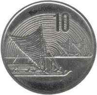 reverse of 10 Cents - Elizabeth II - Treaty of Waitangi (1990) coin with KM# 73 from New Zealand. Inscription: 10
