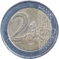 reverse of 2 Euro - 1'st Map (2002 - 2006) coin with KM# 188 from Greece. Inscription: 2 EURO LL