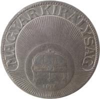 obverse of 20 Fillér - Miklós Horthy (1926 - 1940) coin with KM# 508 from Hungary. Inscription: MAGYAR KIRÁLYSÁG 1926