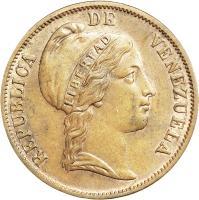 obverse of 1 Centavo (1852) coin with Y# 6 from Venezuela. Inscription: REPUBLICA DE VENEZUELA