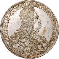 obverse of 1 Speciestaler - Karl VI - Hall mint (1719 - 1734) coin with KM# 1594 from Austria.