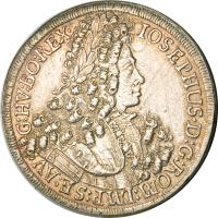 obverse of 1 Speciestaler - Josef I - Hall mint (1705 - 1710) coin with KM# 1438.1 from Austria.