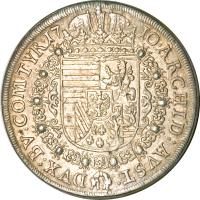 reverse of 1 Speciestaler - Josef I - Hall mint (1705 - 1710) coin with KM# 1438.1 from Austria.