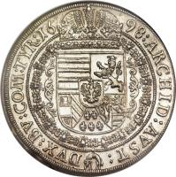 reverse of 1 Speciestaler - Leopold I - Hall mint (1679 - 1704) coin with KM# 1303 from Austria.