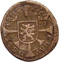 reverse of 1 Kreuzer - Ferdinand II - Graz mint (1624 - 1631) coin with KM# 481 from Austria.