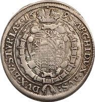 reverse of 15 Kreuzer - Leopold - Graz mint (1694 - 1696) coin with KM# 1375 from Austria.