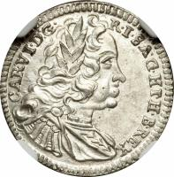 obverse of 1 Kreuzer - Karl VI - Graz mint (1730 - 1740) coin with KM# 1638 from Austria.