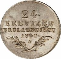 reverse of 24 Kreuzer - Franz II (1800) coin with KM# 2148 from Austria.