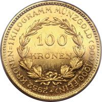 reverse of 100 Kronen (1923 - 1924) coin with KM# 2831 from Austria.