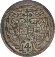 obverse of 4 Kreuzer - Leopold - Anton Eleutherius (1731) coin with KM# 336 from Austrian States. Inscription: 4