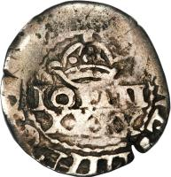 obverse of 50 Réis - João IV - Countermarked (1663) coin with KM# 22 from Brazil.