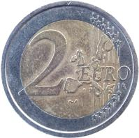 reverse of 2 Euro - World Food Program (2004) coin with KM# 237 from Italy. Inscription: 2 EURO LL