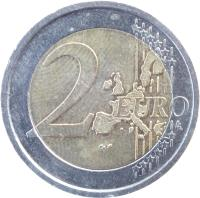 reverse of 2 Euro - European Constitution (2005) coin with KM# 245 from Italy. Inscription: 2 EURO LL