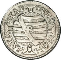 reverse of 75 Réis - José I (1752 - 1760) coin with KM# 176 from Brazil. Inscription: STAB. SVBQ SIGN. NATA