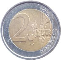 reverse of 2 Euro - Torino Olympics (2006) coin with KM# 246 from Italy. Inscription: 2 EURO LL