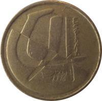 obverse of 5 Pesetas - Juan Carlos I (1989 - 2001) coin with KM# 833 from Spain. Inscription: ESPAÑA 1998