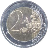 reverse of 2 Euro - 10 Years of Euro Cash (2012) coin with KM# 350 from Italy. Inscription: 2 EURO LL