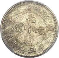 obverse of 3.6 Candareens - Guangxu (1899 - 1901) coin with Y# 141a from China. Inscription: 子 造省南江 庚     光   寶  元     緒 六分三平庫