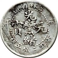 obverse of 3.6 Candareens - Guangxu (1898 - 1908) coin with Y# 179 from China.