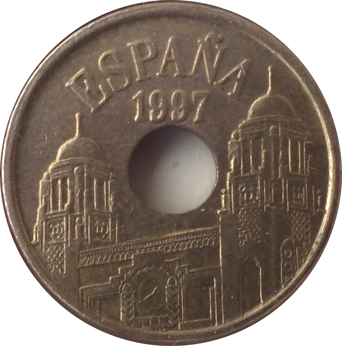 25 ptas coin 1997