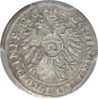 obverse of 1/2 Batzen - Ferdinand II (1623 - 1637) coin with KM# A16 from German States.