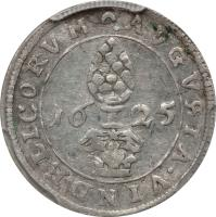 reverse of 1/2 Batzen - Ferdinand II (1623 - 1637) coin with KM# A16 from German States.