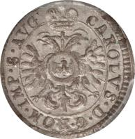 obverse of 1 Kreuzer - Karl VI (1726) coin with KM# 137 from German States.