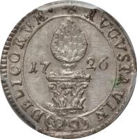 reverse of 1 Kreuzer - Karl VI (1726) coin with KM# 137 from German States.