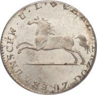 obverse of 1/12 Thaler - Karl II (1823 - 1830) coin with KM# 1104 from German States. Inscription: CARL HERZOG ZU BRAUNSCHW.U.LUEN
