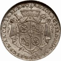 obverse of 1/12 Thaler - Emeric Joseph - Death of Archbishop (1774) coin with KM# 384 from German States.
