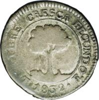 reverse of 1 Real - Provisional Coinage (1832 - 1839) coin with KM# 18 from Honduras.