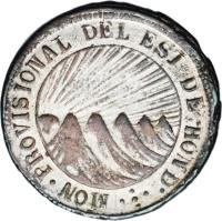 obverse of 1 Real - Provisional Coinage (1845 - 1849) coin with KM# 18b from Honduras.