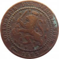 obverse of 1 Cent - Willem III / Wilhelmina (1877 - 1900) coin with KM# 107 from Netherlands. Inscription: KONINGRIJK DER NEDERLANDEN 1900