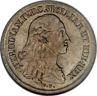 obverse of 120 Grana - Ferdinando IV (1786 - 1795) coin with KM# 198 from Italian States.