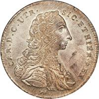 obverse of 120 Grana - Carlos III (1750 - 1754) coin with KM# 162 from Italian States.