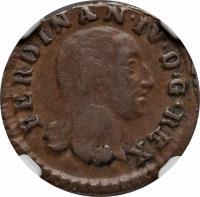 obverse of 4 Cavalli - Ferdinando IV (1804) coin with KM# 238 from Italian States. Inscription: FERDINAN · IV · D · G · REX