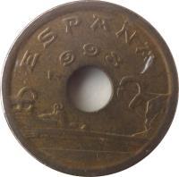 obverse of 25 Pesetas - Juan Carlos I - Basque Country (1993) coin with KM# 920 from Spain. Inscription: ESPAÑA 1993