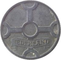 obverse of 1 Cent - Wilhelmina - German Occupation (1941 - 1944) coin with KM# 170 from Netherlands. Inscription: NEDERLAND
