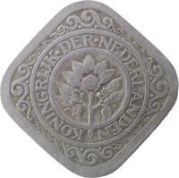 obverse of 5 Cents - Wilhelmina (1913 - 1940) coin with KM# 153 from Netherlands. Inscription: KONINGRIJK DER NEDERLANDEN