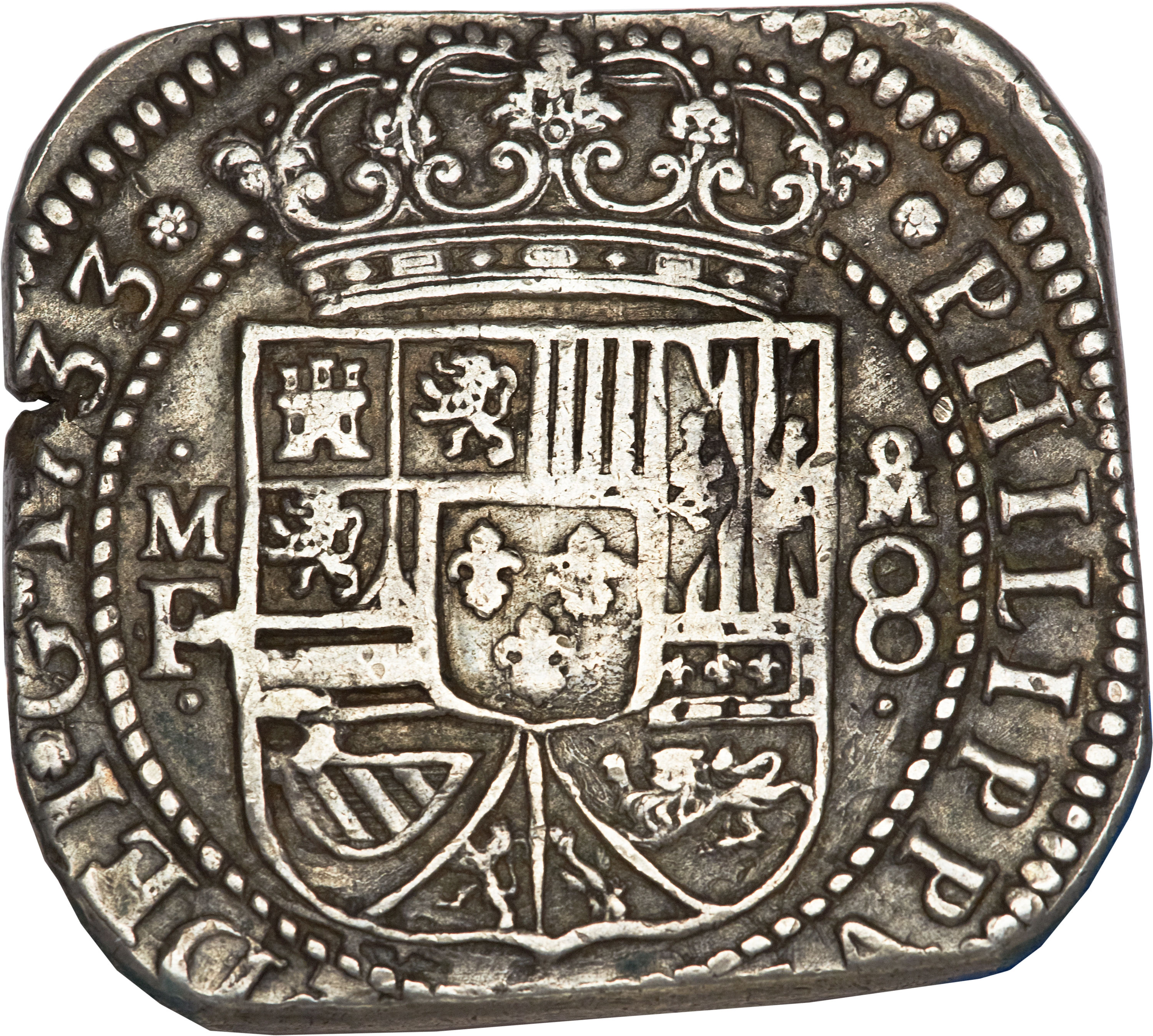 obverse of 8 Reales - Felipe V (1733 - 1734) coin with KM#