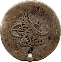 obverse of 10 Para - Selim III (1789 - 1806) coin with KM# 492 from Ottoman Empire.