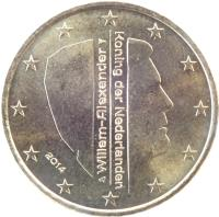 obverse of 50 Euro Cent - Willem-Alexander - 2'nd Map (2014 - 2015) coin with KM# 349 from Netherlands. Inscription: Willem-Alexander Koning der Nederlanden 2014