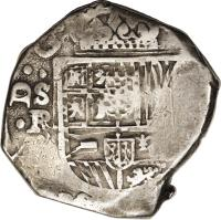 obverse of 8 Reales - Felipe IV (1622 - 1665) coin with KM# 80 from Spain.