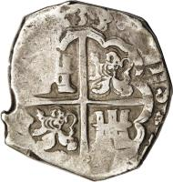 reverse of 8 Reales - Felipe IV (1622 - 1665) coin with KM# 80 from Spain.