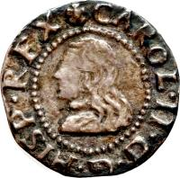 obverse of 1 Real - Carlos II (1667 - 1688) coin with KM# 181 from Spain. Inscription: CAROL.II.D.G.HISP.REX